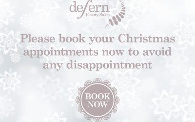 Book your Christmas appointments now
