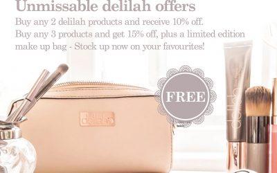delilah make-up offers
