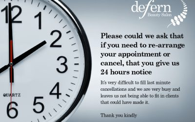 Appointment cancellations
